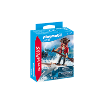 Playmobil 70598 piraat met vlot en haai