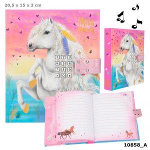 Miss Melody dagboek met code en muziek