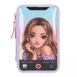 Topmodel 3-vaks etui selfie met led