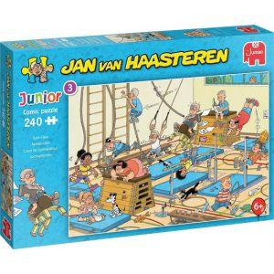 Jan van Haasteren Junior Apenkooien puzzel - 240 stukjes - Kinderpuzzel