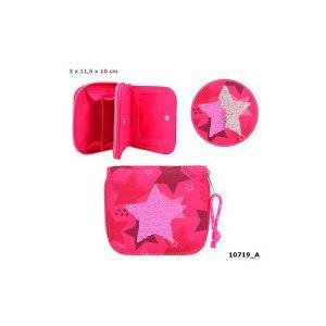 TOPModel portemonneeStar van wrijfpailletten, roze