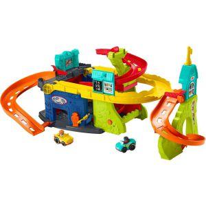 Fisher-Price Little People Zit en Sta Wheelies Garage - Racebaanset