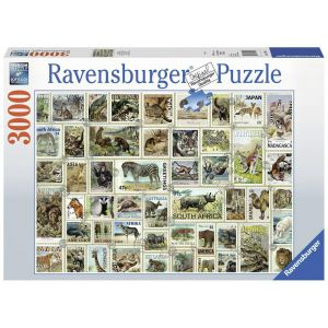 Legpuzzel 3000 dierenpostzegel