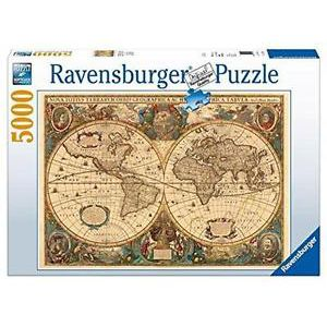 Puzzel 5000 st. Antieke wereldkaart