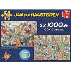 Puzzel jvh 2x1000 fijne feestdagen