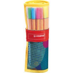 Stabilo fineliner pen88 rollerset 25 kleuren