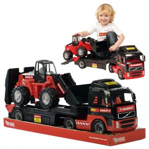 Mammoet vrachtwagen en shovel