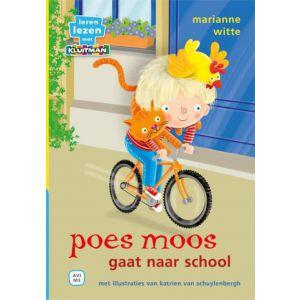 Boek AVI M3 poes moos gaat naar school