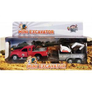Auto pullback pajero met minigraver
