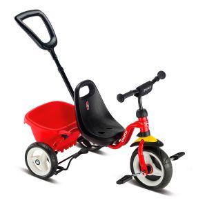 Puky driewieler rood/zwart met kiepbak