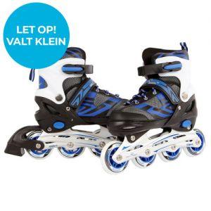 Inline skates blauw/zwart maat 39-42 (valt wat klein)