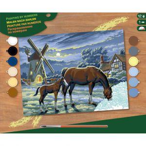 Schilderen op nummer paarden