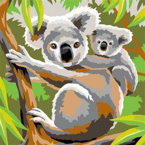 Schilderen op nummer koalas