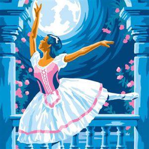 Schilderen op nummer ballerina