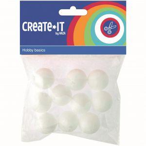 CREATE-IT Polystyreen Bollen 2,5 Cm 10 Stuks