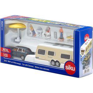SIKU 2542 Auto met Caravan