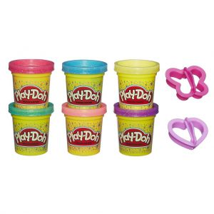 Playdoh glitter set 6 potjes
