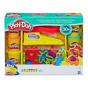 Playdoh fun factory deluxe set