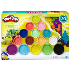 Playdoh mountain of colours