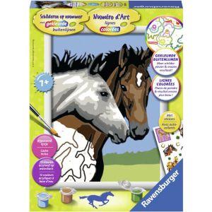 Schilderen op nummer paardenvriendschap