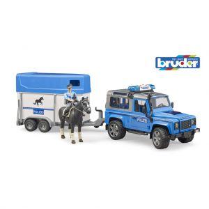 Jeep Politie Met Paardentrailer Met Paard