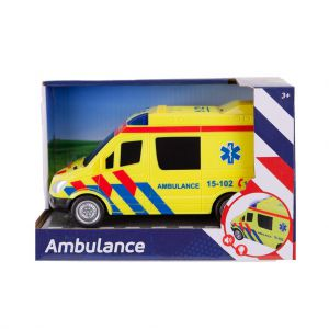 Ambulance met licht en geluid