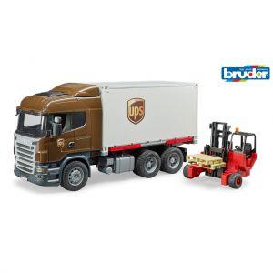 Scania UPS met heftruck
