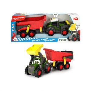Tractor Happy Farm Met Aanhanger Met Geluid