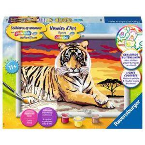 Schilderen op nummer tijger