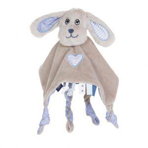 Jipy knuffeldoekje hond blauw