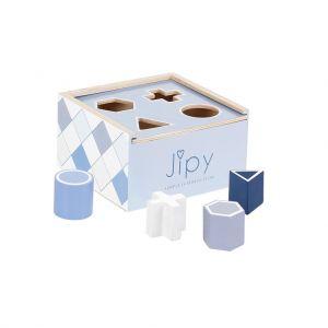 Jipy vormenstoof hout blauw