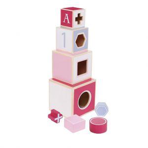Jipy stapeltoren hout roze