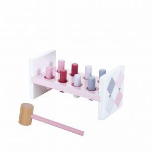Jipy hamerbank hout roze