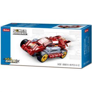 Sluban Power Brick Car Fast Red