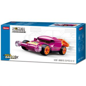 Sluban Power Brick Car Purple Wing