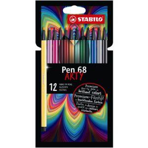 Viltstiften Stabilo Arty Pen 68: 12 stuks