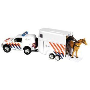 Paardentrailer politie