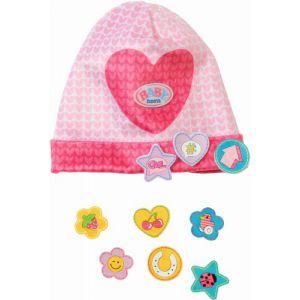 Muts met leuke pins Baby Born: roze