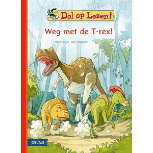 Boek dol op lezen! weg met de t-rex