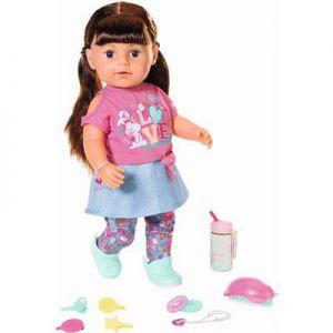 Pop Baby Born Sister Soft Touch Brown Hair Met Functies