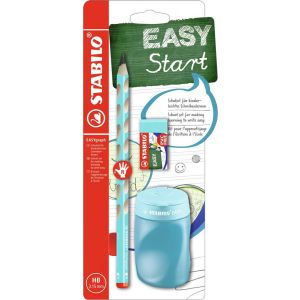Stabilo easy schoolset blauw rechts
