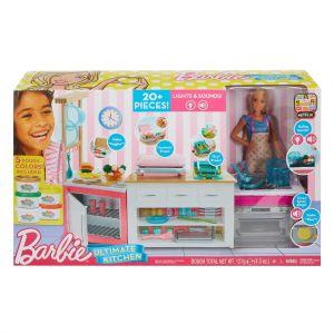 Barbie ultieme keuken met pop