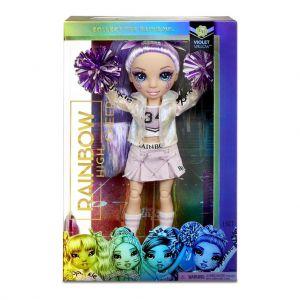 Rainbow High Cheer Doll Violet Willow Purple