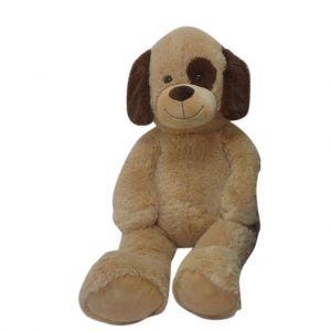Pluche Hond 100 Cm donkerbruin