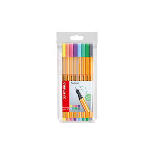 Stabilo point 88 fineliners etui 8 stuks pastel