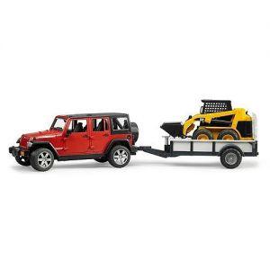 Jeep met Shovel Caterpillar