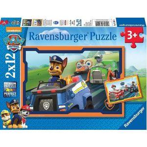Puzzel Paw Patrol 2x 12 Paw Patrol in actie