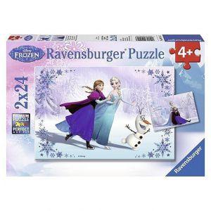 Puzzel Frozen 2x24 Zussen voor altijd
