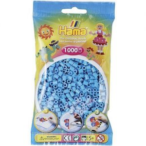 Strijkkralen azuur blauw 1000