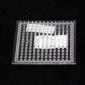 Strijkkralen plaat vierkant klein transparant